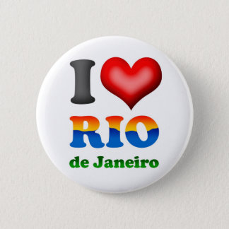 I Love Rio de Janeiro, Brazil The Wonderful City 2 Inch Round Button