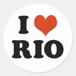 I love Rio De Janeiro Classic Round Sticker