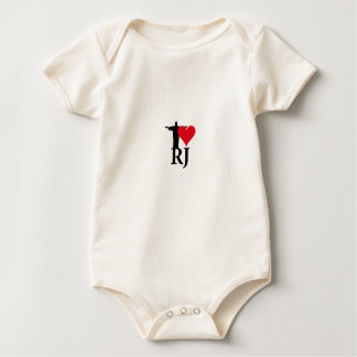 I Love River of Janerio Brazil Series Baby Bodysuit