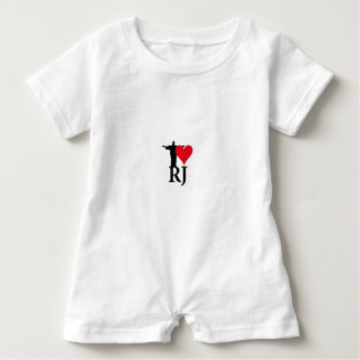 I Love River of Janerio Brazil Series Baby Romper