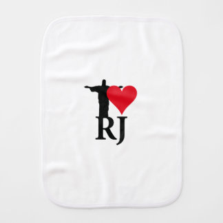 I Love River of Janerio Brazil Series Burp Cloth