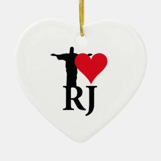 I Love River of Janerio Brazil Series Ceramic Ornament