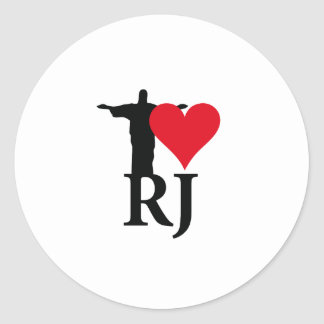 I Love River of Janerio Brazil Series Classic Round Sticker