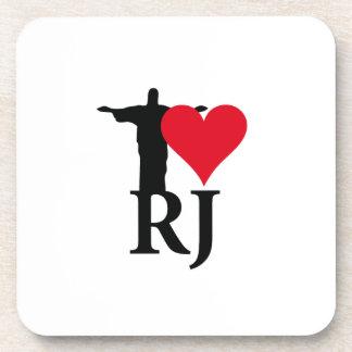I Love River of Janerio Brazil Series Coaster