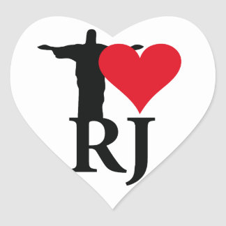 I Love River of Janerio Brazil Series Heart Sticker