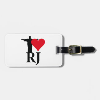 I Love River of Janerio Brazil Series Luggage Tag