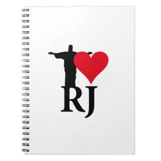 I Love River of Janerio Brazil Series Notebook