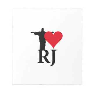 I Love River of Janerio Brazil Series Notepad