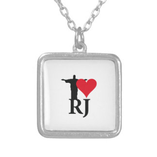 I Love River of Janerio Brazil Series Silver Plated Necklace