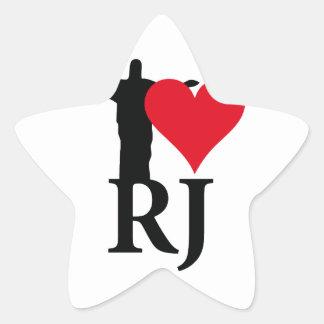 I Love River of Janerio Brazil Series Star Sticker