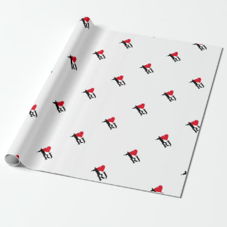 I Love River of Janerio Brazil Series Wrapping Paper