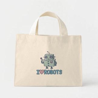 I Love Robots Tote Bag