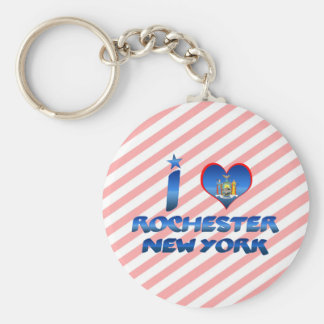 I love Rochester, New York Keychain