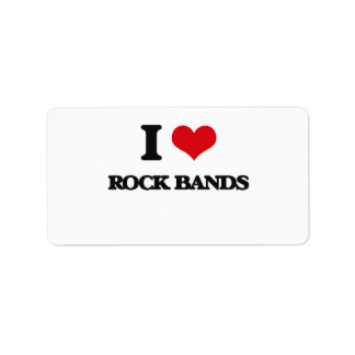 I love Rock Bands Address Label