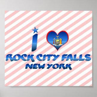 I love Rock City Falls, New York Print