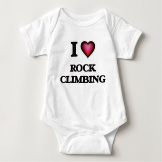 I Love Rock Climbing Baby Bodysuit