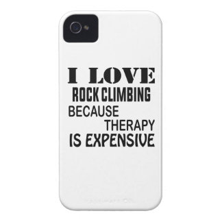 I Love Rock Climbing Because Therapy Is Expensive iPhone 4 Covers