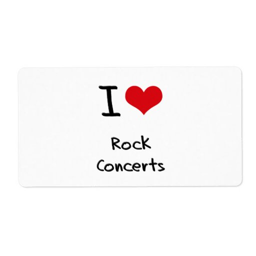 I love Rock Concerts Personalized Shipping Labels