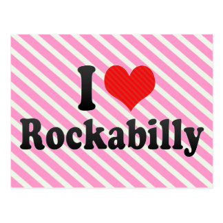 I Love Rockabilly Postcard
