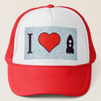 I Love Rockets Trucker Hat