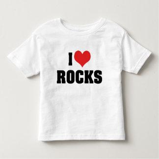I Love Rocks - Rock Geology Geologist Lover Toddler T-shirt
