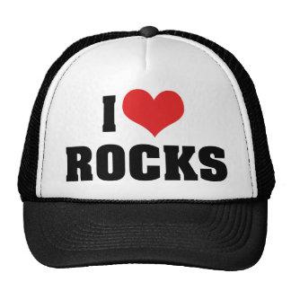 I Love Rocks - Rock Geology Geologist Lover Trucker Hat