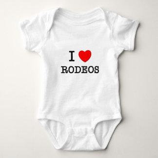 I Love Rodeos Baby Bodysuit