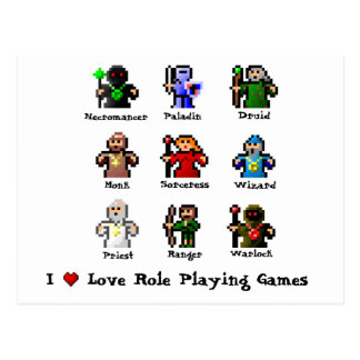 I Love Role Playing Games Postcard