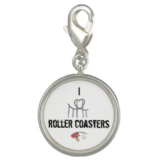 I love roller coasters charm