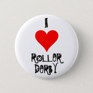 I LOVE ROLLER DERBY 2 INCH ROUND BUTTON