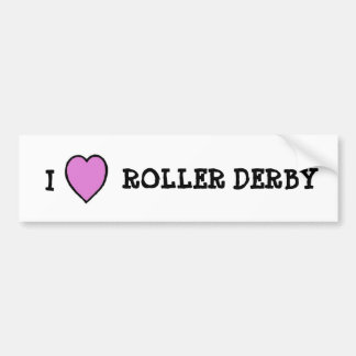 I Love Roller Derby Sticker