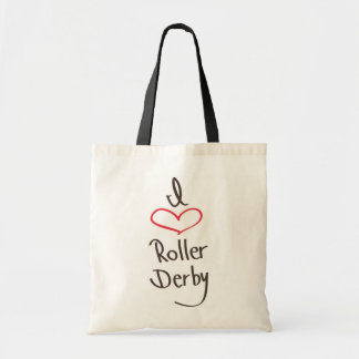 i love roller derby tote bag