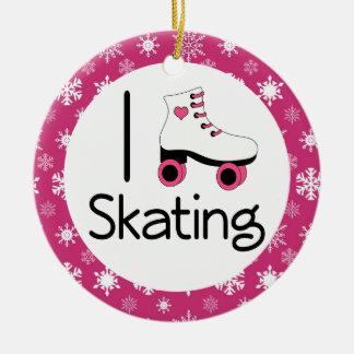I Love Roller Skating Keepsake Ornament Gift