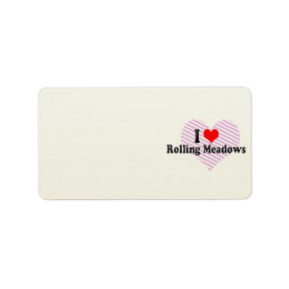 I Love Rolling Meadows, United States Address Label