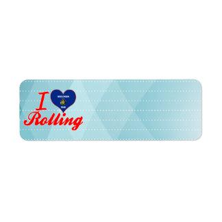 I Love Rolling, Wisconsin Custom Return Address Labels