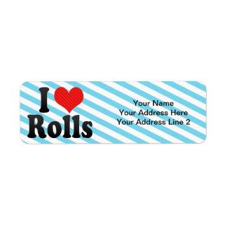 I Love Rolls Return Address Labels