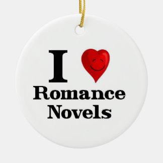 I Love Romance Novels Ceramic Ornament