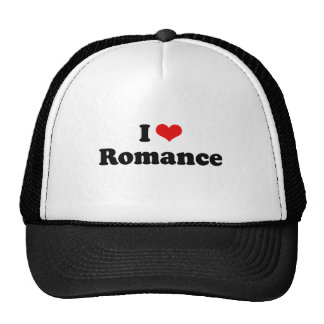 I Love Romance Tshirt Mesh Hats