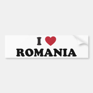 I Love Romania Bumper Sticker