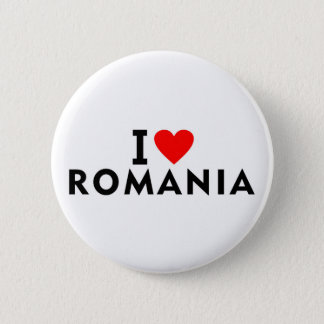 I love Romania country like heart travel tourism 2 Inch Round Button