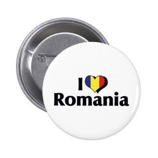 I Love Romania Flag 2 Inch Round Button