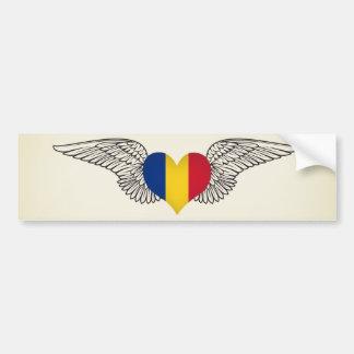I Love Romania -wings Bumper Sticker