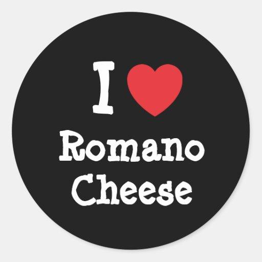 I love Romano Cheese heart T-Shirt Stickers