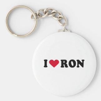 I LOVE RON KEYCHAIN