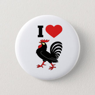 I Love rooster 2 Inch Round Button