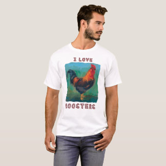 """I Love Roosters"" colorful t-shirt"