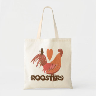 I Love Roosters Peach and Pink