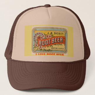 I LOVE ROOT BEER - VINTAGE ADVERT TRUCKER HAT