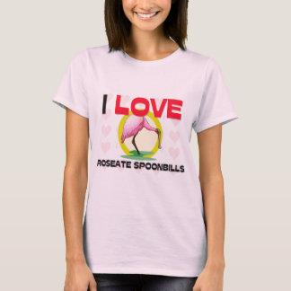 I Love Roseate Spoonbills T-Shirt