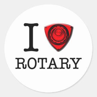 I love Rotary Engine Round Sticker